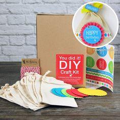 SRM Press Inc. - DIY Craft Kit - Birthday Party Favor Muslin Bags at Scrapbook.com