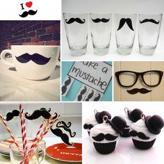 Moustache collage