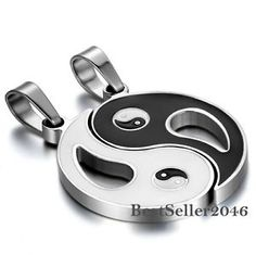 Cheap necklace small pendant, Buy Quality pendant jewellery directly from China pendant necklace for men Suppliers: BONISKISS Stainless Steel Chinese Mystical Yin Yang Tai Chi Ba Gua Matching Pendant Gold Silver Black With Chian(Pair) Tai Chi, Yin Yang, Stainless Steel Necklace, Stainless Steel Chain, Black Hills Gold Jewelry, Couple Necklaces, Chains For Men, Necklace Types, Gold Necklace