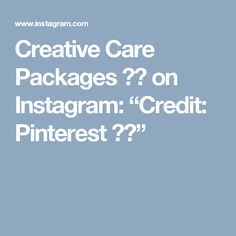 """Creative Care Packages  📦💕 on Instagram: """"Credit: Pinterest ❤️"""""""