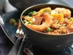 Fried Rice with Pineapple, Shrimp & Ham via @MyMilitarySavings