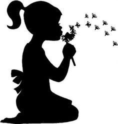 Little girl silhouette blowing. Little girl silhouette blowing bubbles. Little girl blowing dandelion silhouette. Silhouette Images, Girl Silhouette, Silhouette Portrait, Kissing Silhouette, Flower Silhouette, Silhouette Painting, Vintage Silhouette, Blowing Dandelion, Dandelion Wall Art