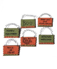 Take a look at this Halloween Wall Art Ornament Set by Pearson's Simply Primitives on #zulily today!