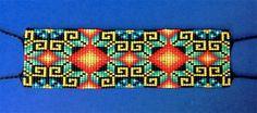 Huichol beaded bracelet: Labyrinths to Real de Catorce bracelet