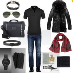 A great men's outfit featuring a very chic Alexander McQueen scarf