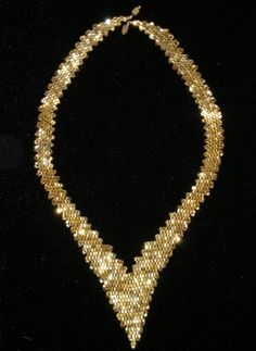 Necklace of beads.