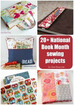 20+ book-related sewing ideas for National Book Month
