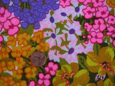 Vintage 1960s Alexander Henry Flower Power Pink Spring by tessimal, $19.00
