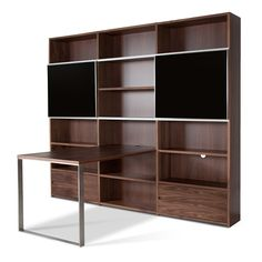 Maine Shelving Unit III with desk