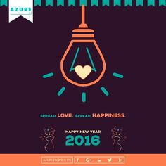 Creative Design for New Year 2016.