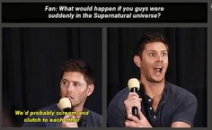 Jensen and Jared in Supernatural