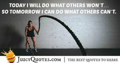 Battle ropes (sometimes referred to as heavy ropes) are currently on trend and for a good reason. Best Motivational Quotes, Best Quotes, Inspirational Quotes, Battle Ropes, Work Quotes, Fitness Motivation Quotes, Get In Shape, Picture Quotes, Workout