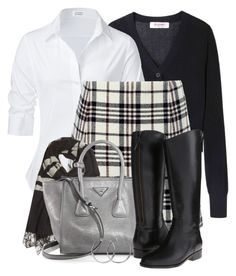 Carven Tartan Wool Pleat Mini Skirt by brendariley-1 on Polyvore featuring polyvore, fashion, style, Steffen Schraut, Organic by John Patrick, Carven, Cole Haan, Prada, Coco's Liberty, rag & bone and clothing