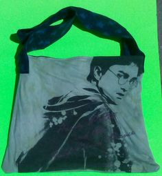 Harry Potter Tote/Upcycled/Shoulder Bag/Strong/Washable  one of a kind larissamyrie.art washable, strong, upcycled, fun, #fashion #style #art #barbie #shoppingbag #totebag #shoulderbag #slowfashion