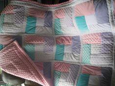 "Custom Baby Girl Minkie Quilt 45"" x 54"". $150.00, via Etsy."