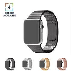 Apple Watch Band, Stainless Steel Link Bracelet W/ Butterfly Lock