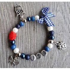 012KA hollandse naam armband met bedeltjes