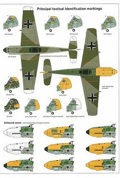 (For Aero Modelers) Messerschmitt Bf 109 E Camouflage and Markings 1940 (24)