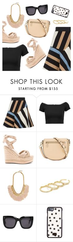 """What to wear"" by dressedbyrose ❤ liked on Polyvore featuring Sandro, Alice + Olivia, Kendall + Kylie, Rebecca Minkoff, Deepa Gurnani, Fallon, STELLA McCARTNEY, Dolce&Gabbana, ootd and WhatToWear"
