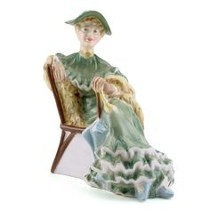 Lady Ascot Royal Doulton Figurine - I have this lovely lady in a vignette of miniatures.  She is very special to me.