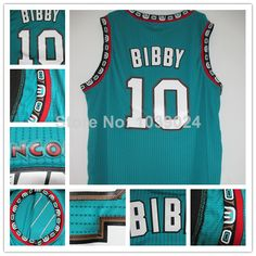 Find More Sports Jerseys Information about Old Vancouver 10 Mike Bibby Jersey Teal Green Turquoise PRO New Michael Bibby Throwback Basketball Jersey Stitched Best Seller,High Quality jersey basketball,China jersey robe Suppliers, Cheap jersey mlb from Live 4 Sports Store on Aliexpress.com