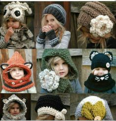 Knit kid hats...can't wait for Winter!