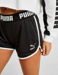 PUMA Mesh ShortsShop online for PUMA Mesh Shorts with JD Sports Ireland, the leading sports fashion retailer. Sport Shorts, Gym Shorts Womens, Champion Store, Courier Collection, Black Puma, Jd Sports, Mesh Fabric, Sport Fashion, Thighs