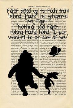 Winnie the Pooh Nº25 vintage old page Art by ThePurpleHamster