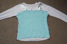 Willow Halloween Frozen - Queen Elsa Ice Dress Tutorial - Make from a T-Shirt