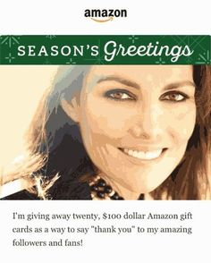 """WIN one of Twenty Amazon Gift Cards for $100 such as """"Free Holiday Gift"""" !  (total of $2000)  competition through Gleam ending in January 07 2017 Pacific Time (USA & Canada)  JOIN HERE :  https://wn.nr/fJGZAQ  #AmazonGiftCard #Amazon #GiftCard #GC #Gift #competition #contest #comp #saving #shopping #dollars #money #win #wining #shop #giveaway #giving #NewYear #Holiday"""