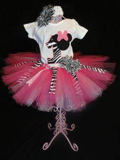 Minnie Mouse Inspired Tutu Set Zebra