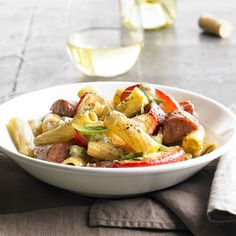 Apple and Sausage Rigatoni