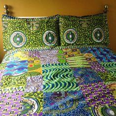 African wax duvet cover wax print duvet custom by ChilliPeppa