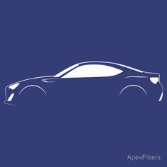 Brushstroke Silhouette' T-Shirt by ApexFibers Car Silhouette, Car Prints, Scion Frs, Automotive Design, Minimal Design, Brush Strokes, Iphone Wallet, Storyboard, Exotic Cars