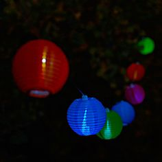 Every backyard party needs SOJI NEON STRING LANTERNS | Solar-Powered Light, Garden Accessory, Party Lights, LED Light, Outdoor Decoration - $40 at www.UncommonGoods.com