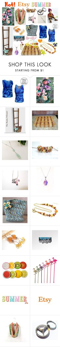 """""""Hot Etsy Summer"""" by belladonnasjoy ❤ liked on Polyvore featuring Shamballa Jewels, Margarita, bathroom and rustic"""