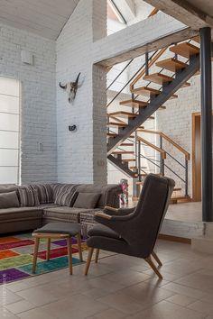 Дом с лофтовым интерьером в Алма-Ате, 190 м²   AD Magazine