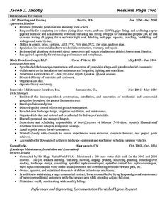 Plumbing Resume Engineering Internship Resume Examples Free Resume Builder Resume