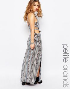 Buy it now. Glamorous Petite Cami Strap Maxi Dress With Open Back In Aztec Print - Multi. Petite dress by Glamorous Petite, Lightweight woven fabric, All-over print, High neckline, Cut-out sides, Front splits, Zip back closure, Regular fit - true to size, Machine wash, 100% Polyester, Our model wears a UK 8/EU 36/US 4. ABOUT GLAMOROUS PETITE Glamorous pulls together an eclectic mix of vintage influences and brand new trends. Glamorous Petite brings us the same fashion-led pieces as their…