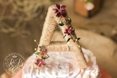 Custom wedding cake topper rustic wedding  от RusticBeachChic