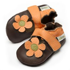Baby Sandals, Baby Shoes, Leather Sandals, Soft Leather, Ankle Strap, Lily, Brown, Collection, Bebe