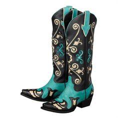 Margaret Women's Cowboy Boot in Turquiose