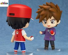 Pokemon 20th Anniversary Trainer Red & Green Monster Go Nendoroid PVC Action Figure Collection
