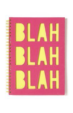 Pink Yellow Blah Blah Notebook