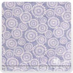 A New Leaf - Pinwheel Swirl Periwinkle Yardage - Mitzi Powers - Benartex