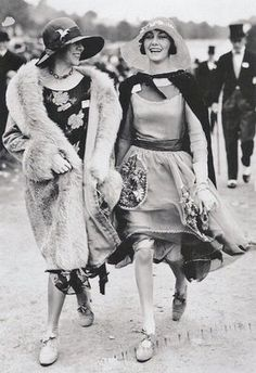 "two of the ""New Women"" of the 1920s... scandalous outfits!"