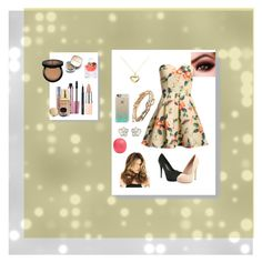 """""""golden night"""" by writingismydreams ❤ liked on Polyvore featuring beauty, Aéropostale, Argento Vivo, Rimmel, MAC Cosmetics, Barry M, Elizabeth Arden, Urban Decay, Stila and Michael Antonio"""