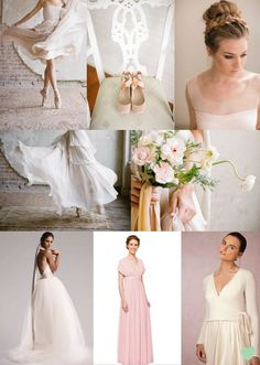 #Ballerina Inspired #Bridal Styling Mood Board from The Wedding Community