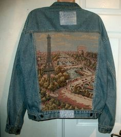 a tapestry on the back of a jean jacket. It doesn't get better than that.