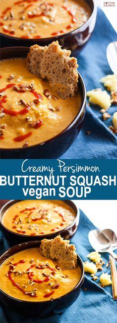 Vegan Persimmon Butternut Squash Soup – Secret Power of Persimmon